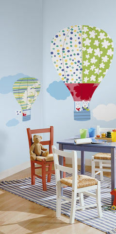 Hot Air Balloons Peel & Stick Giant Wall Decals image