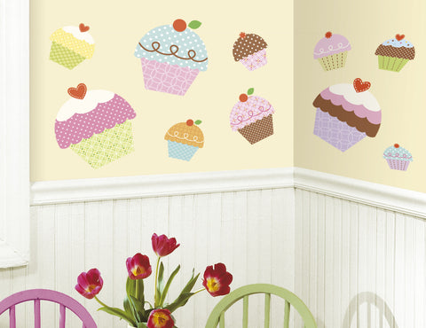 Happi Cupcake Peel & Stick Giant Wall Decals image