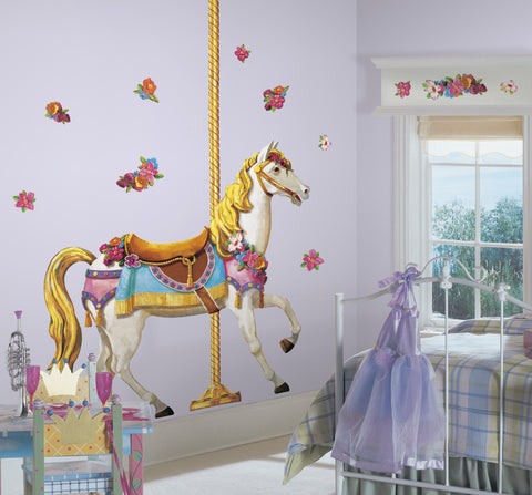 Carousel Horse Peel & Stick Giant Wall Decals image