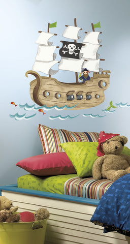 Pirate Ship Peel & Stick Giant Wall Decals image