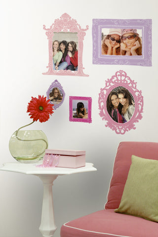 Pink & Purple Frames Peel & Stick Giant Wall Decals image