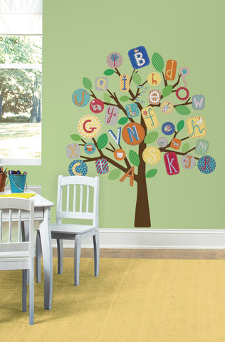 ABC Primary Tree Peel & Stick Giant Wall Decals image