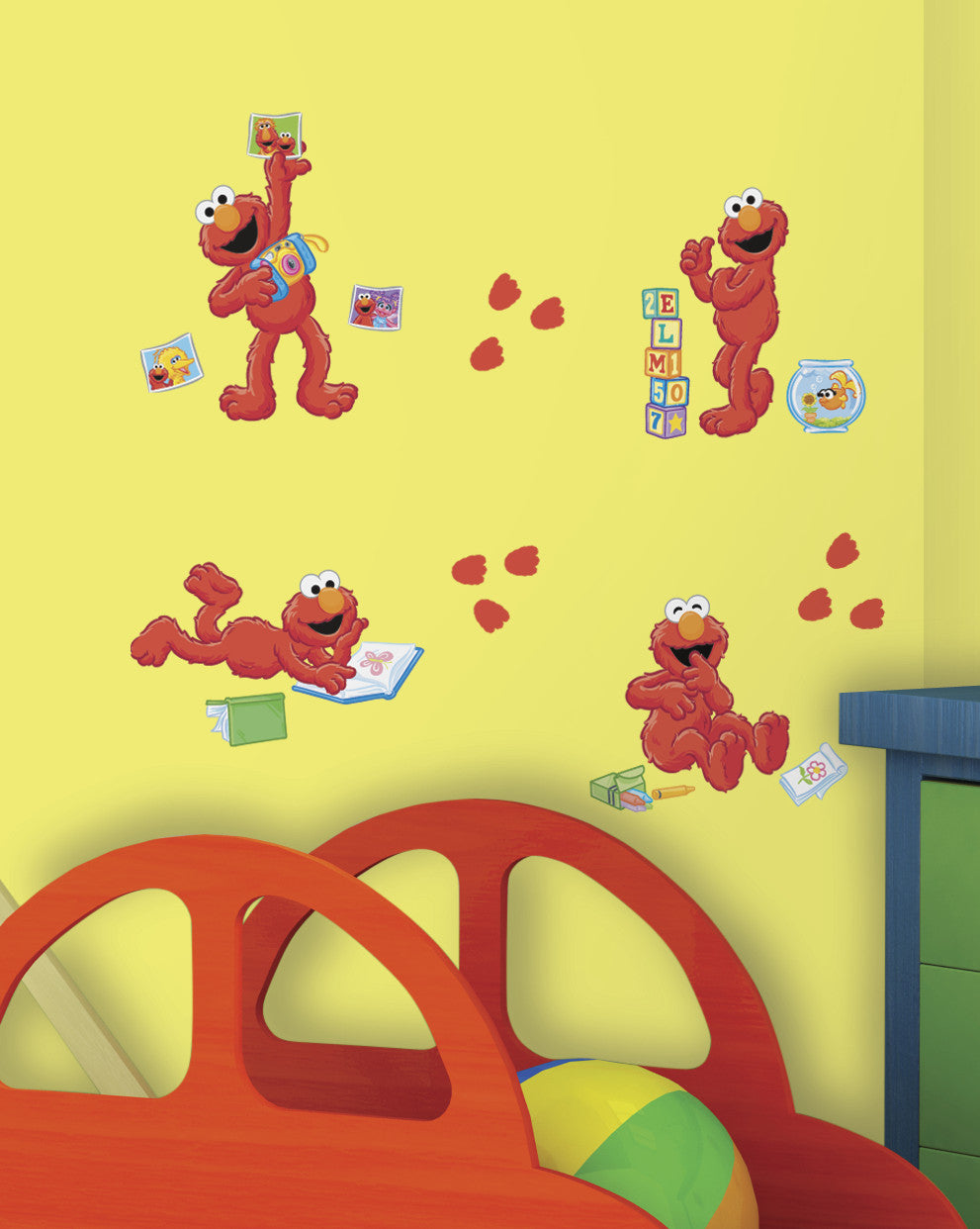 Wonderful Sesame Street   Elmo Centric Peel U0026 Stick Wall Decals