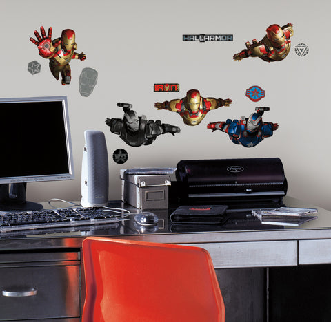 Iron Man 3 Peel & Stick Wall Decals
