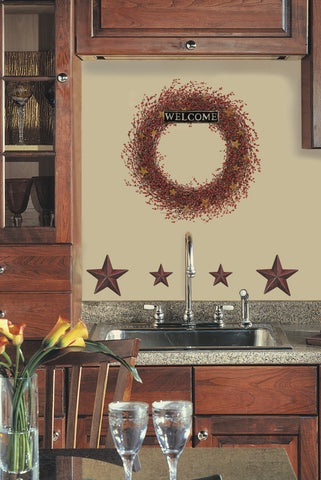 Country Wreath Peel & Stick Giant Wall Decal image