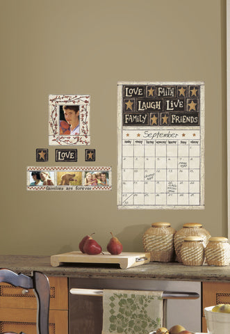 Family and Friends Peel & Stick Dry Erase Calendar image
