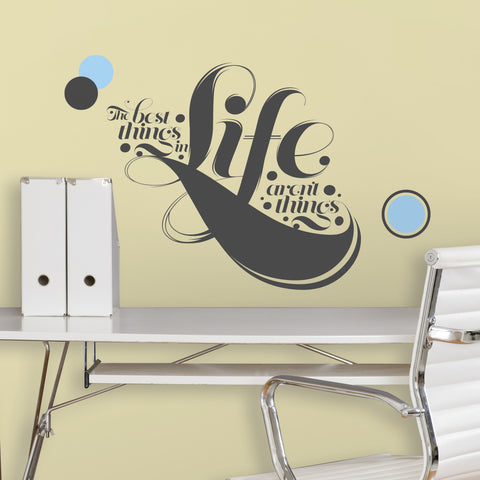 55 Hiu0027s   The Best Things In Life Peel U0026 Stick Giant Wall Decals Image