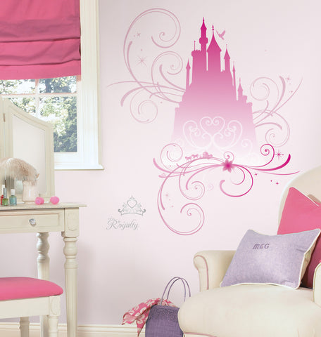 Disney Princess   Scroll Castle Peel U0026 Stick Giant Wall Decals W/Glitter Part 36