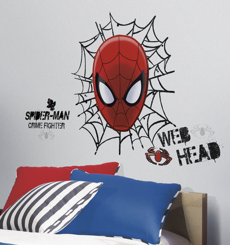 Spiderman - Ultimate Spider-Man Web Head Peel & Stick Wall Decals