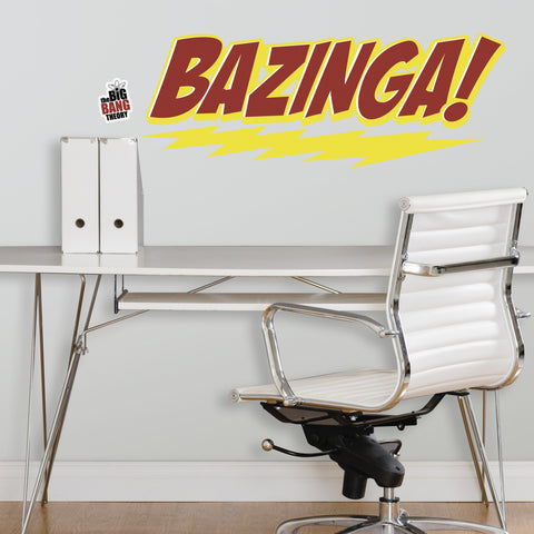 Big Bang Theory BAZINGA Peel & Stick Giant Wall Decal