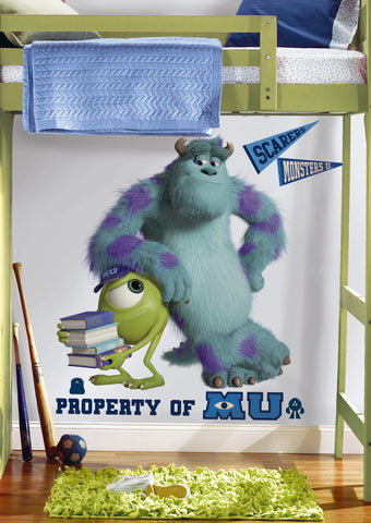 Monsters University Sully & Mikey Peel & Stick Giant Wall Decals