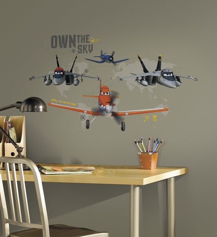 Planes - Own The Sky Peel and Stick Giant Wall Decals