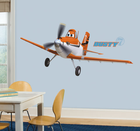 Planes - Dusty The Plane Peel and Stick Giant Wall Decals