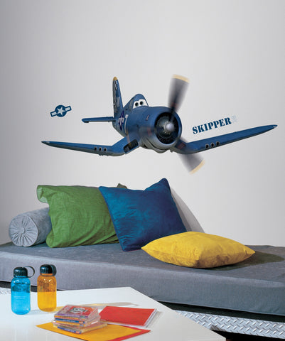 Planes - Skipper The Plane Peel and Stick Giant Wall Decals