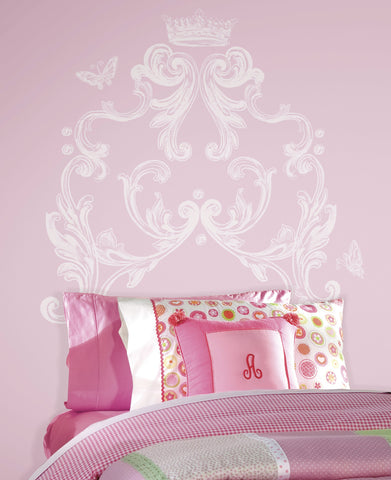 Scroll Headboard Peel and Stick Giant Wall Decal image