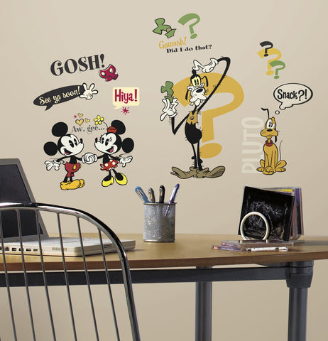 Mickey & Friends - Mickey Mouse Cartoons Peel and Stick Wall Decals