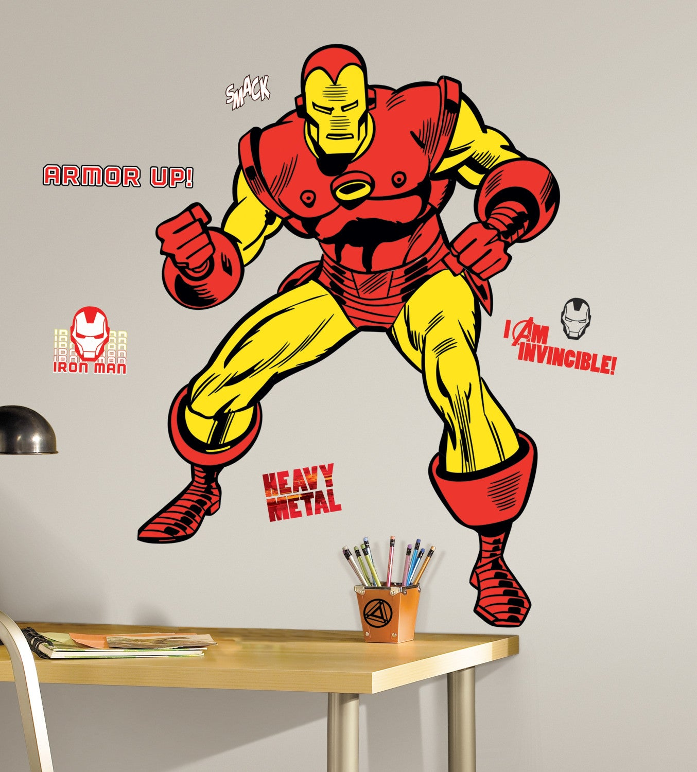 Marvel Classic Iron Man Peel And Stick Giant Wall Decals