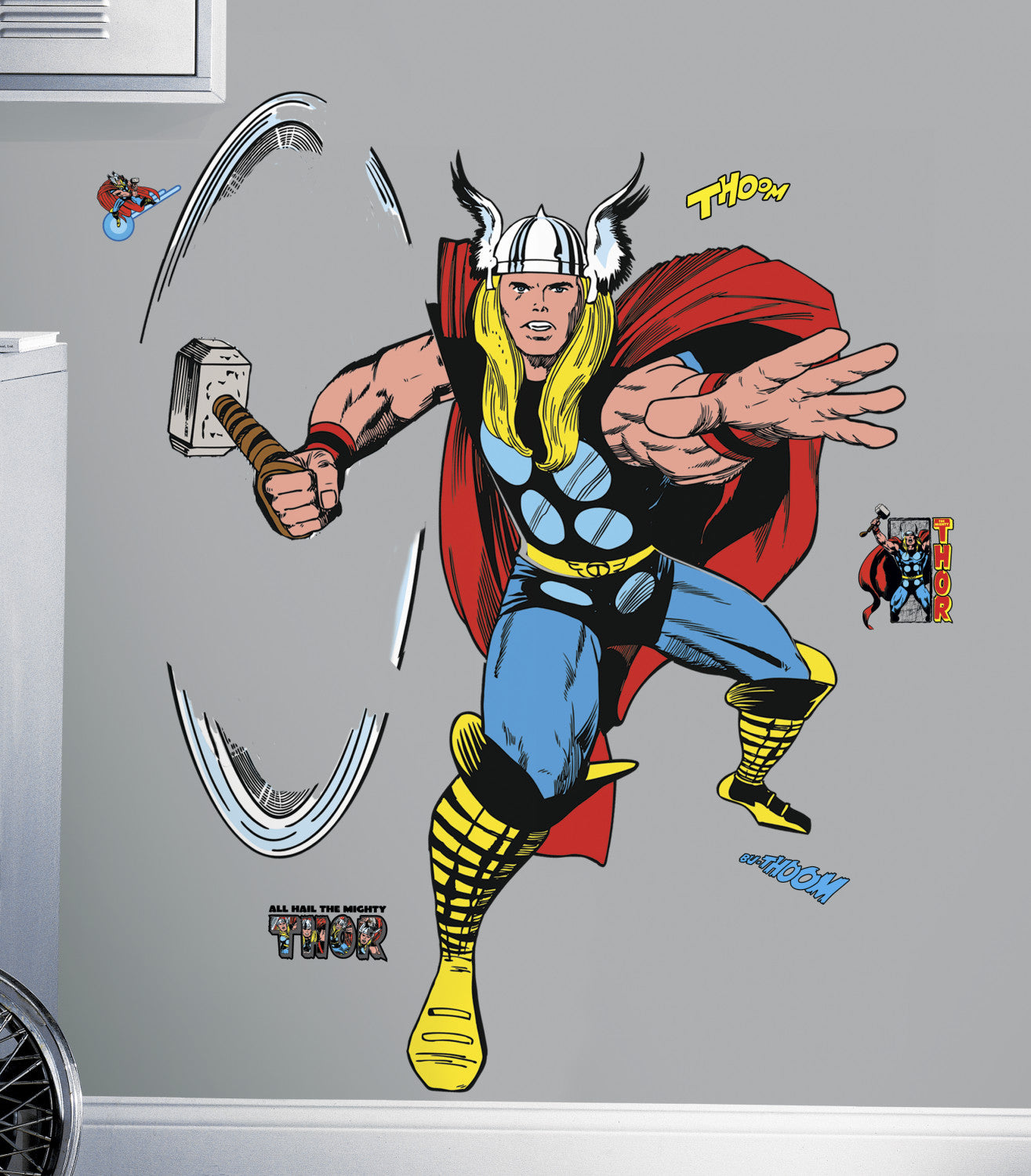 Marvel Classic Thor Peel And Stick Giant Wall Decals