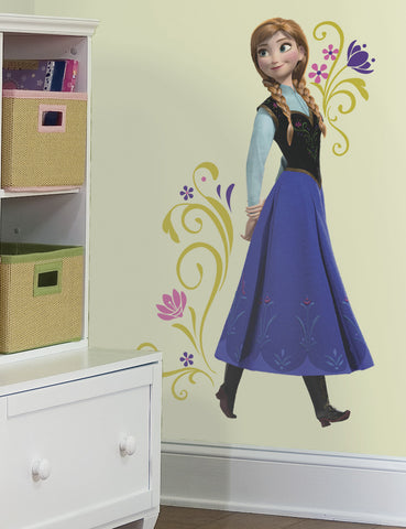 Frozen Princess Anna Peel and Stick Giant Wall Decals