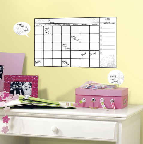 Universal Calendar Dry Erase Peel and Stick Wall Decals image