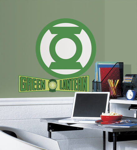 Classic Green Lantern Logo Peel and Stick Giant Wall Decals