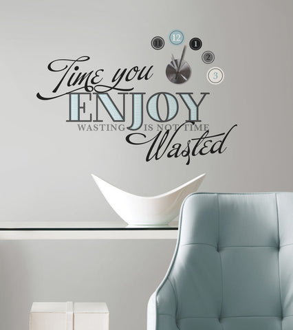 Time You Enjoy Quote Peel and Stick Clock image