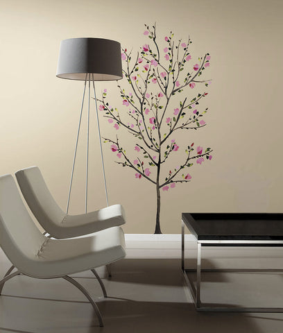 Pink Blossom Tree Peel and Stick Giant Wall Decals image