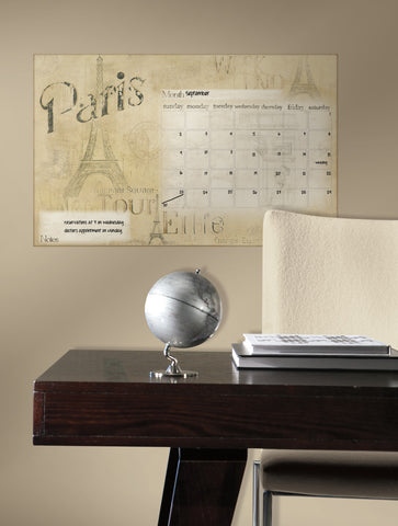 Paris Dry Erase Calendar Peel and Stick Wall Decals image
