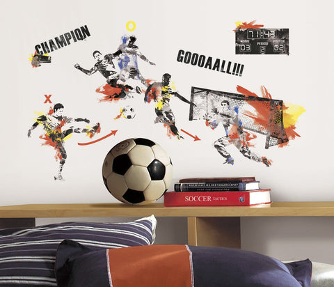 Men's Soccer Champion Peel and Stick Wall Decals image