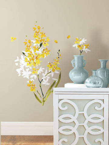 Yellow Flower Arrangement Peel and Stick Wall Decals image