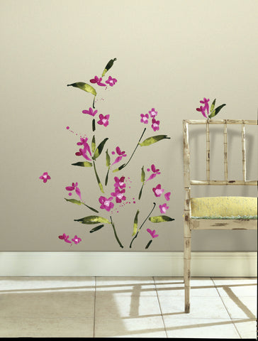 Fuchsia Flower Arrangement Peel and Stick Wall Decals image