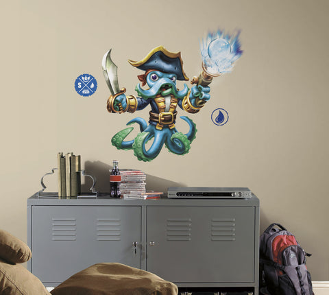 Skylanders SWAP Force Wash Buckler Peel and Stick Giant Wall Decals