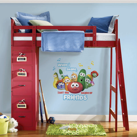 Veggie Tales Peel and Stick Giant Wall Decals