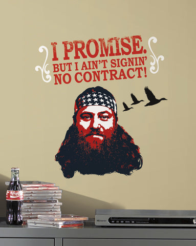 Duck Dynasty Willie Peel and Stick Giant Wall Decals