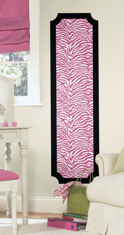 Pink and Black Zebra Print Peel and Stick Deco Panel image