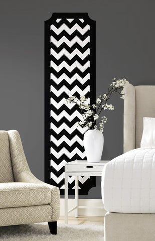 Black and White Chevron Peel and Stick Deco Panel image