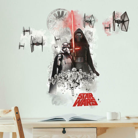 STAR WARS THE FORCE AWAKENS EP VII VILLIANS BURST PEEL AND STICK GIANT WALL DECAL