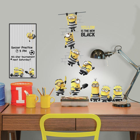 DESPICABLE ME 3 PEEL AND STICK WALL DECALS WITH DRY ERASE