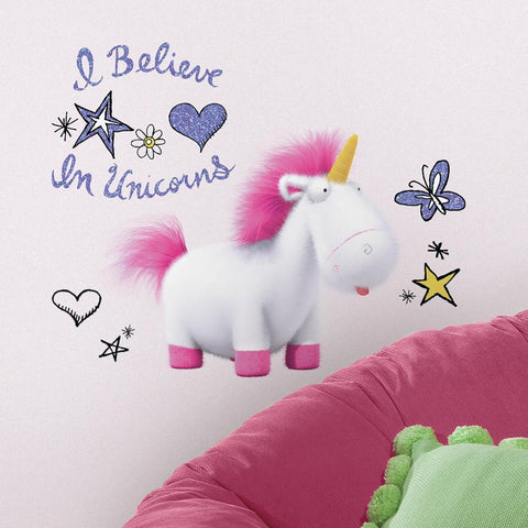 DESPICABLE ME 3 I BELIEVE IN UNICORNS GIANT PEEL AND STICK WALL DECALS