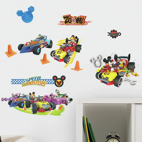 MICKEY AND THE ROADSTERS RACERS PEEL AND STICK WALL DECALS