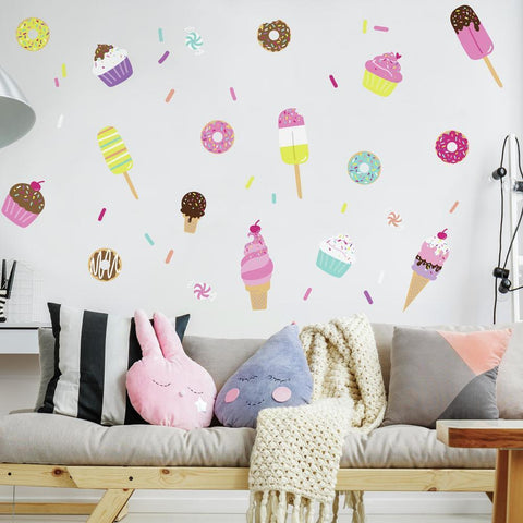 SWEET TREATS PEEL AND STICK WALL DECALS