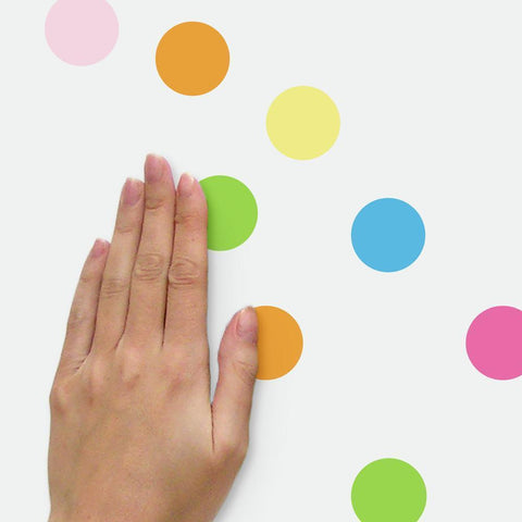 PASTEL DOT PEEL AND STICK WALL DECALS