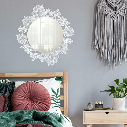 LACE WALL DECALS WITH MIRROR