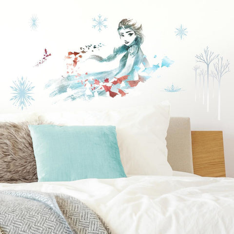 FROZEN II WATERCOLOR ELSA PEEL AND STICK GIANT WALL DECALS
