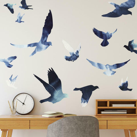 BIRDS IN FLIGHT PEEL AND STICK GIANT WALL DECALS