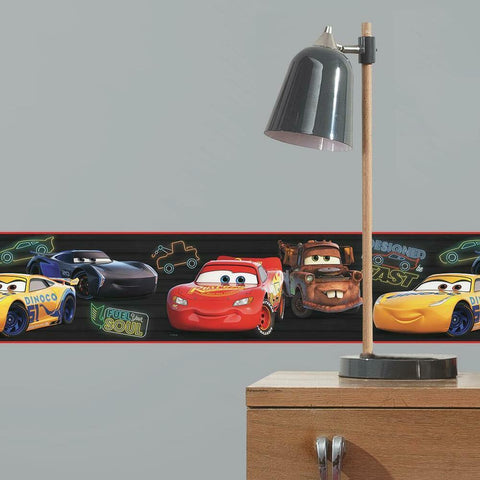 DISNEY AND PIXAR CARS PISTON CUP RACING PEEL & STICK WALLPAPER BORDER