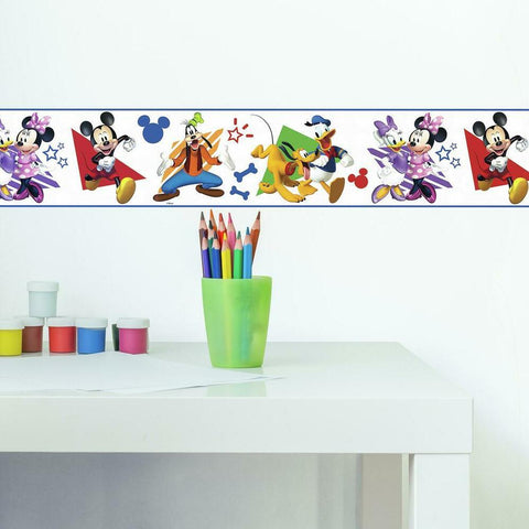 DISNEY MICKEY & FRIENDS PEEL & STICK WALLPAPER BORDER