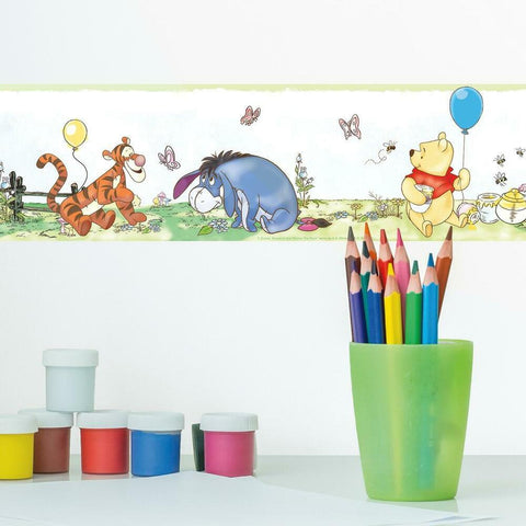 DISNEY WINNIE THE POOH TODDLER PEEL & STICK WALLPAPER BORDER