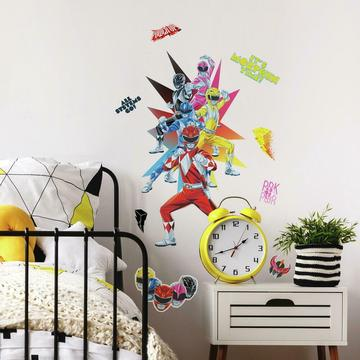 POWER RANGERS PEEL AND STICK GIANT WALL DECAL