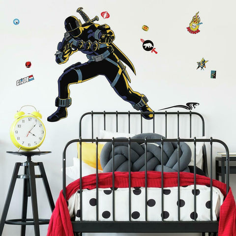 GI JOE RETRO SNAKE EYES PEEL AND STICK GIANT WALL DECALS